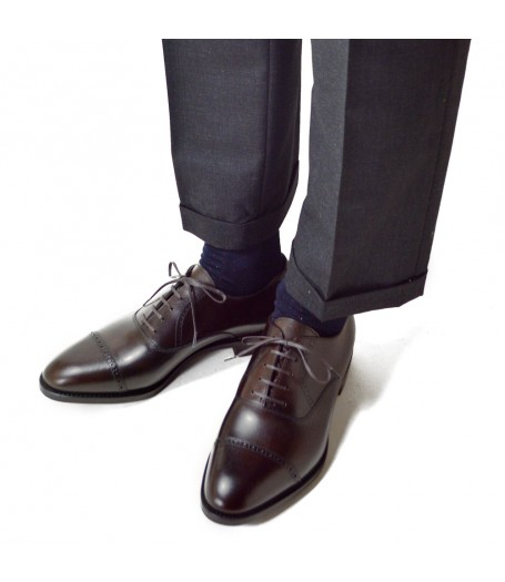 PUNCHED CAP TOE OXFORD(レザーソール)